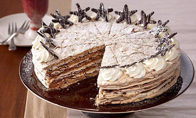 Празнична белтъчено-шоколадова торта