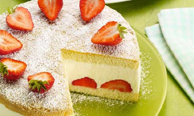 Лимоново - сметанова торта